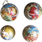 Four West German Candy Container Ornaments