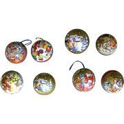 8  German Vintage Candy Container Ornaments