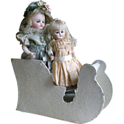 Old German Sleigh  for Bisque Doll Display