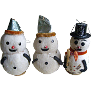 Three Cotton Snowmen