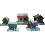 Five Cardboard houses for Christmas