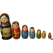Early  Russian Matryoshka Nesting Dolls