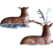 Four Miniature Metal  ENCO  Reindeer