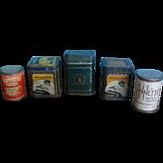 Vintage Miniature Tins