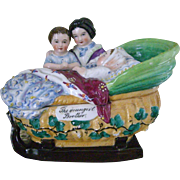 Spinneli Antique Inkwell with China Dolls