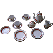 Doll Sized  Miniature China Coffee Set