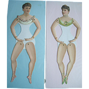 Two 14 Inch Paper Dolls