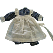 Dot Cotton Dress and Pinafore