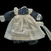 Dot Cotton Dress and Pinafore
