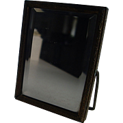 Miniature Two-Sided Beveled Mirror and Cat Print