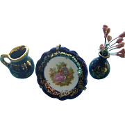 Three Pieces Miniature French Limoges