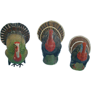Three Composition  Turkey Containers
