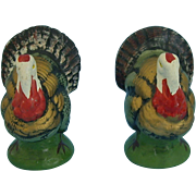 Two 4.25 Inch Composition Turkeys