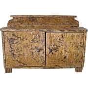 5.25 Inch Miniature Painted Oak Sideboard