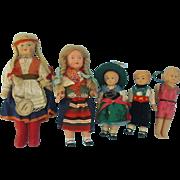 Four Celluloid  Dolls