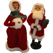 Santa 1986 and Mrs. Clause 1989 Caroler Dolls