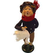 Doll Caroler with Christmas Goose