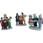 3 Snow Baby Carolers and Musicians