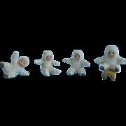 4 Snowed German Snow Babies