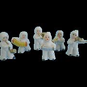 Six Snowed German Snow Baby Musicians
