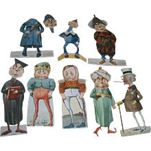 8 Palmer Cox Paper Doll Trade Cards