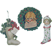 3 Paper Christmas  Ornaments