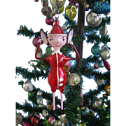6'' Italian Pinocchio Christmas Ornament on Legs