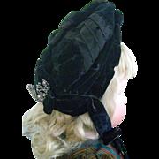 Victorian Velvet and Ribbon Bonnet