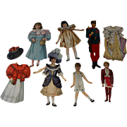 4 Rivet Jointed Paper Dolls Plus 2