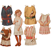 8.75 Inch Paper Doll with Stitched Dresses