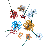 Bright Seed Bead Flowers