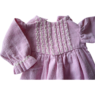 Pink Flannel  Dress