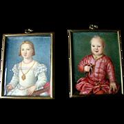 Antique Miniature European Portraits