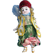 5'' All Original German All Bisque Doll