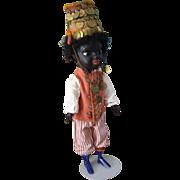 12 Inch Black Ethnic Folk Art Doll