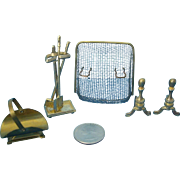 7 Piece Miniature Fire Screen & Accessories