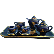 Miniature Antique Doll House Limoges Castel Tea Set