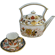 Miniature Teapot with Cup & Saucer Royal Crown Derby