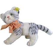 10'' from Nose to Tail Tip Jointed Steiff Cat