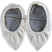 Old Leather Pointed Toe Slippers