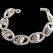 Vintage Beau Sterling Leaf Bracelet