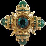 Vintage Benedikt NY Maltese Cross Pin / Pendant