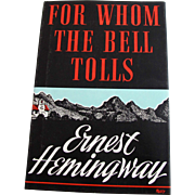 For Whom the Bell Tolls by Ernest Hemingway 1968/1940 Facsimile First Edition