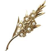 Vintage Boucher 8373P Gladiolus Flower Pin