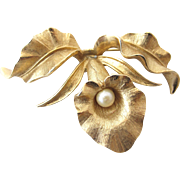 Vintage Boucher 8377 Orchid Flower Pin