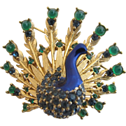 Vintage Boucher Peacock Brooch - Book Piece