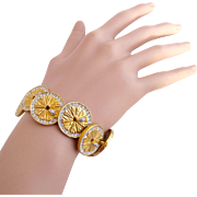 Vintage Boucher Orange Citrus Slice Bracelet #9796 B - Rare