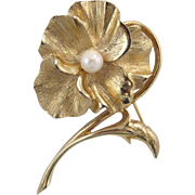 Boucher Pansy Pin 8376P