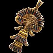 Vintage Castlecliff Larry Vrba Aztec Mayan Quetzel Bird Pendant
