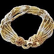 Ciner Jaguar Torsade Necklace
